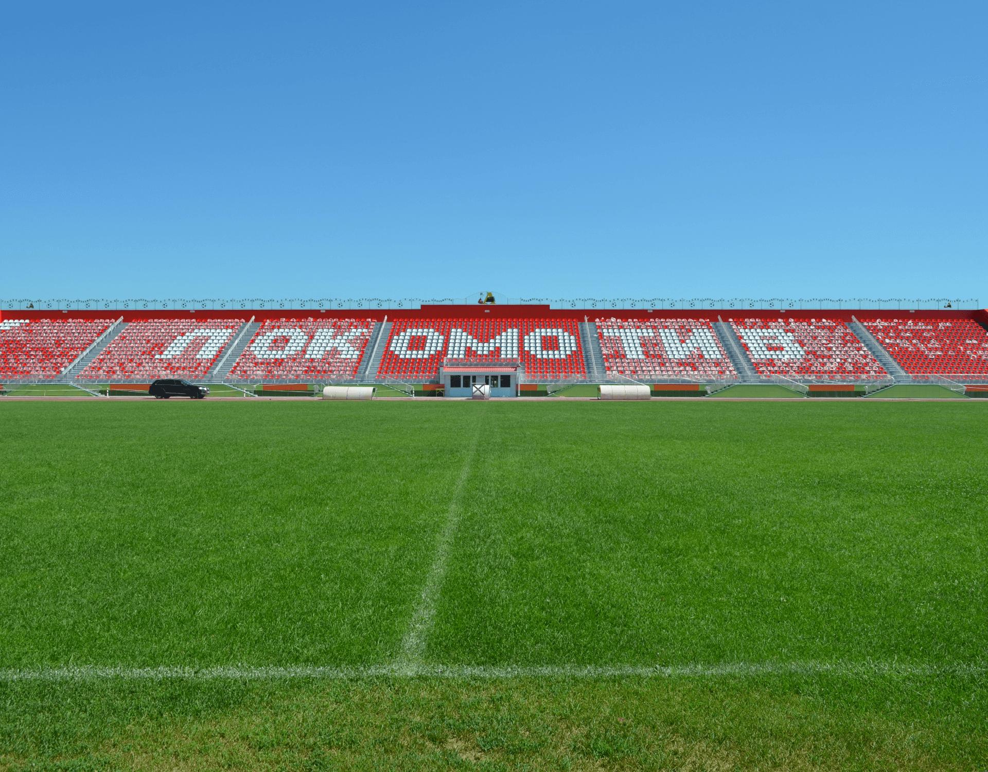 """Η Isomat στο Γήπεδο """"Lokomotiv"""", Liski, Ρωσία"""